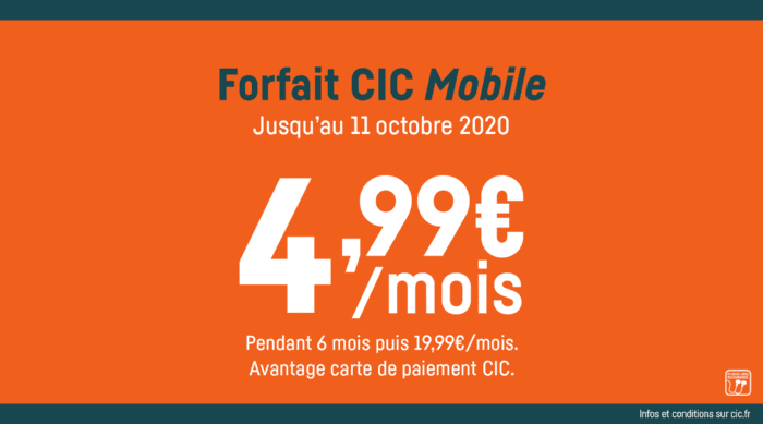 Forfait Cic Mobile